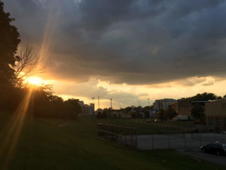 Sunset at Talbot Park.