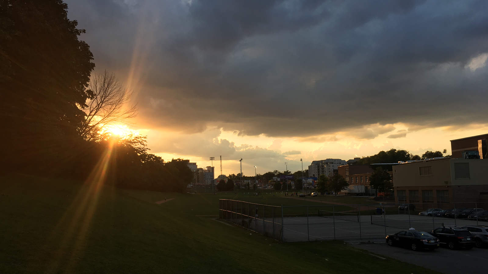 Sunset at Talbot Park.