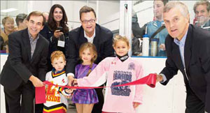 Leaside Arena ribbon cutting