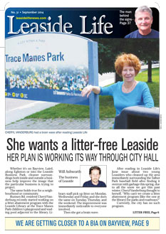 Leaside Life September 2014 print edition cover