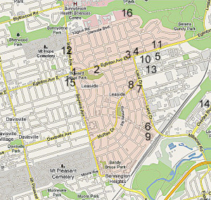Leaside Map