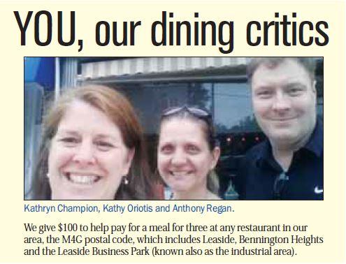 Dining Critics July 2015