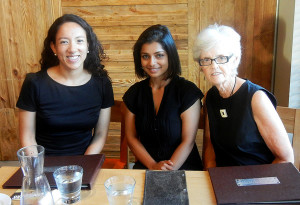 Left to right, Ella Maggay, Rhea Viegas and Elaine Snider.  We give $100 to help pay for a meal for three at any restaurant in our area, the M4G postal code, which includes Leaside, Bennington Heights and the Leaside Business Park (known also as the industrial area).