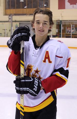 Reid Humphrey in Hockey Equipment