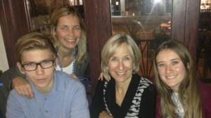 Christopher and Kimberly Lexovsky, Leslie MacIntosh and Emma Zivot