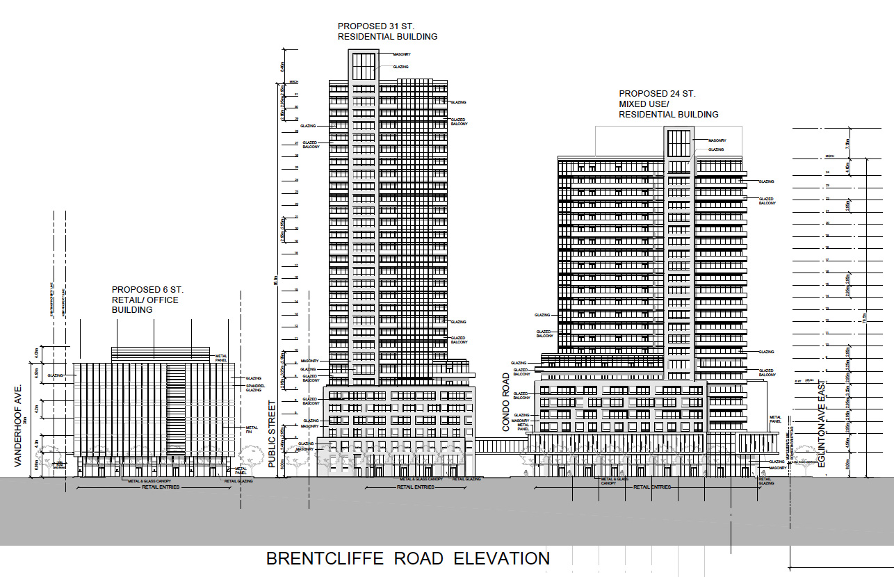 939 Eglinton elevation