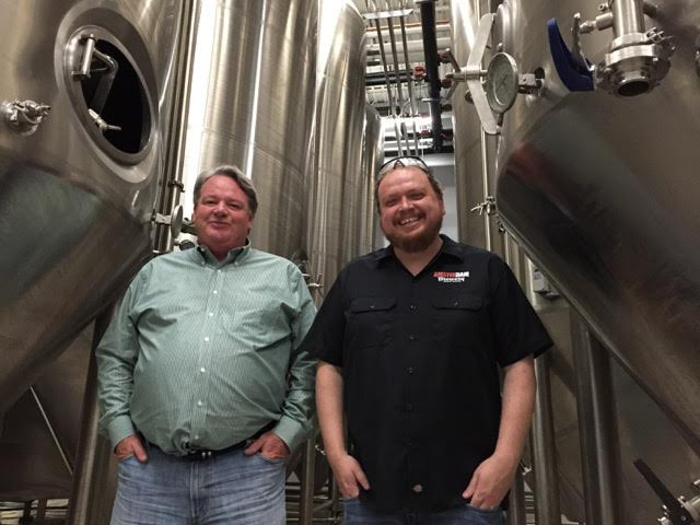 Amsterdam Brewery owner Jeff Carefoote, left, and brewmaster Iain McOustra have tripled capacity at the Leaside site this March.