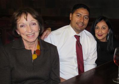 Karen Spencer, left, Nicolas and Darlene Lemond.