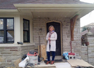 Catherina Maughan at her new 'old' house on Bessborough.