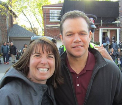 Matt Damon and Becky White