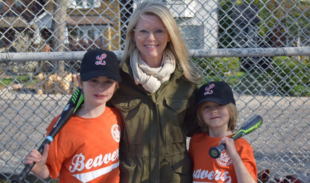 Matt, Heather and Will McCallum share a love of baseball.