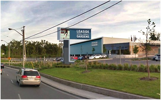 Proposed billboard for the leaside arena.