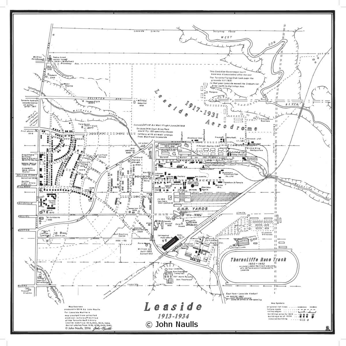 Map of Leaside 1913-1934