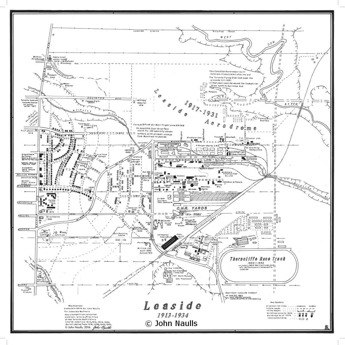 Map of Leaside 1913-1934