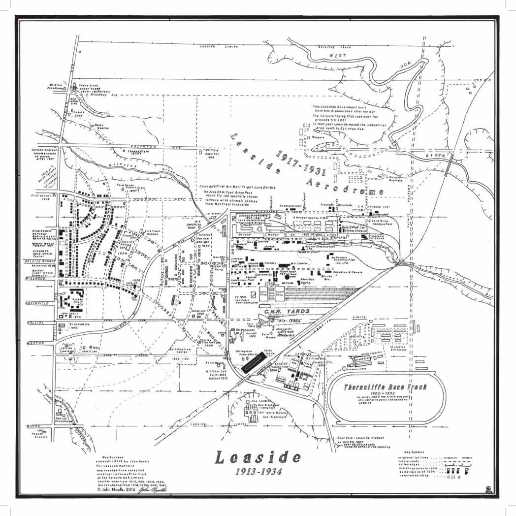 Map of Leaside 1913 - 1934