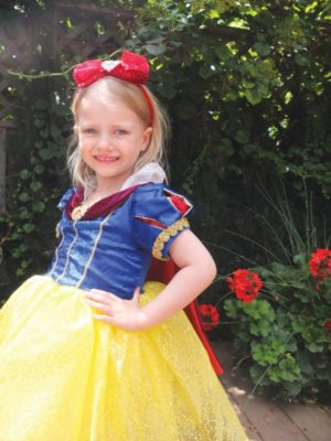 Brooke Beales in princess costume