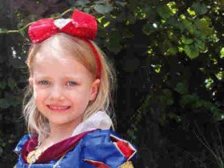 Brooke in her Halloween costume