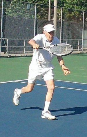 Ivar Liepins playing tennis