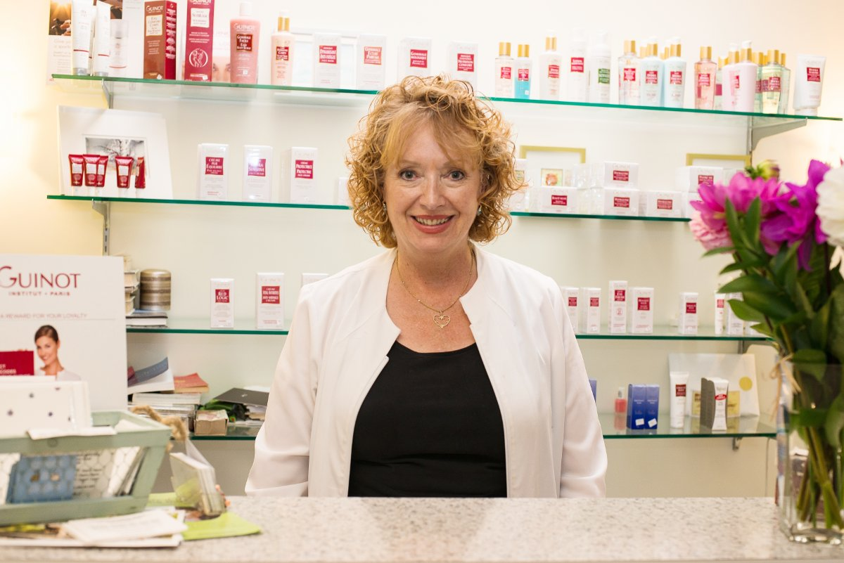 Picture of Nancy Penny, owner of Absolute Beauty, Leaside's longest- established aesthetician.