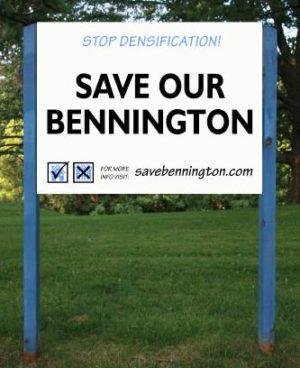 Save Bennington Sign
