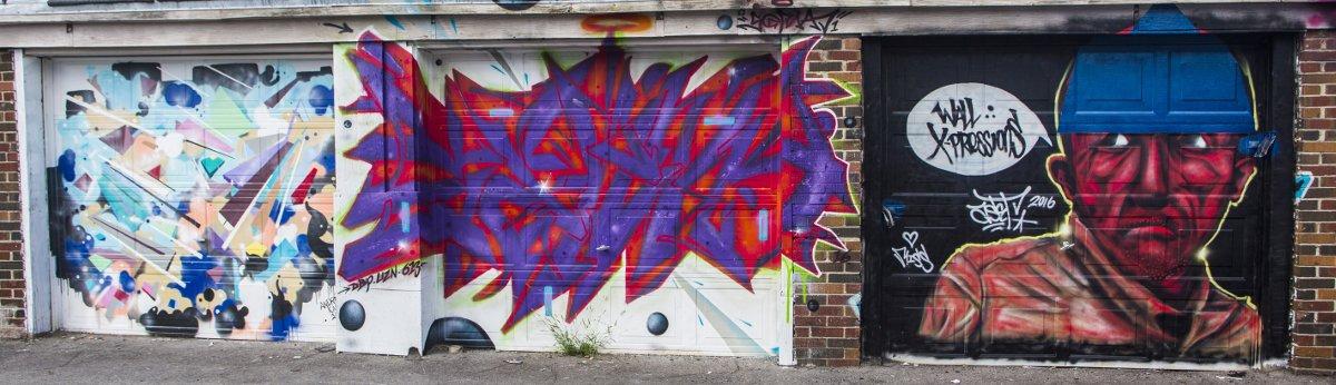 Graffiti on garages