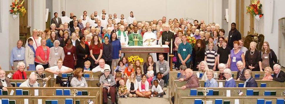 Group photo of the St. Cuthbert's Anglican Church Congregation