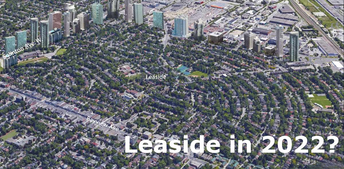 Potential layout of Leaside in 2022