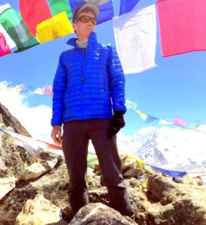 Joe Raftis during an acclimatized trek bfore reaching Mt. Everest basecamp in April 2015. Photo courtesy of Raftis family