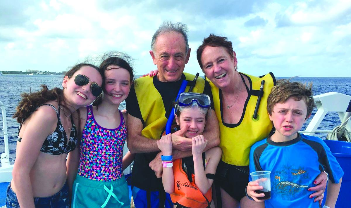 Harry and Ruth with their four grandchildren, l-r: Kelvey, Rachel, Michaela and Nathan on a 2016 Disney Cruise. Their 2017 travel plans include Cuba and South America.