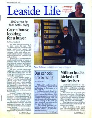 The debut issue of Leaside Life, December 2011