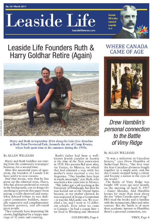 Leaside Life March 2017 Cover