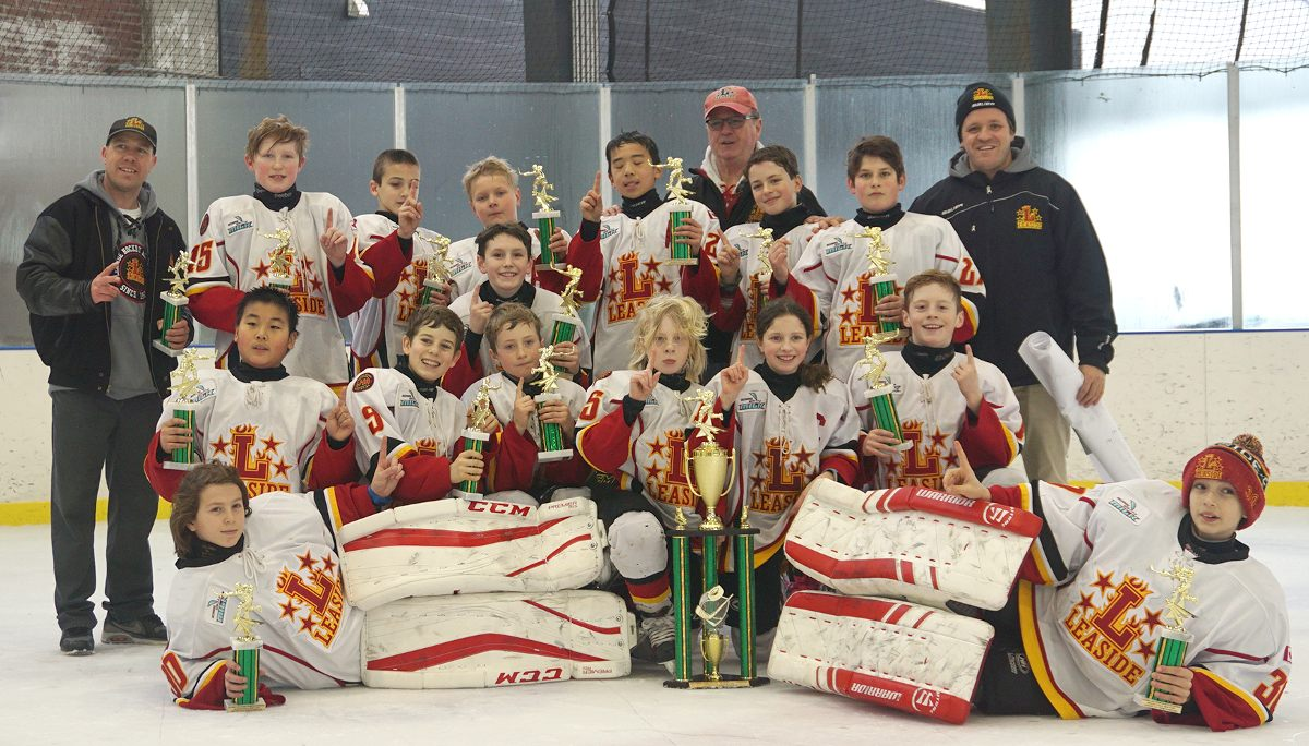Minor Peewee AA Leaside Flames finished 2nd in the GTHL regular season.