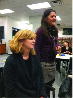 Math Night with Robyn Israel, co-chair of Bessborough's School Council, and Vice-Principal Caroline Rosenbloom