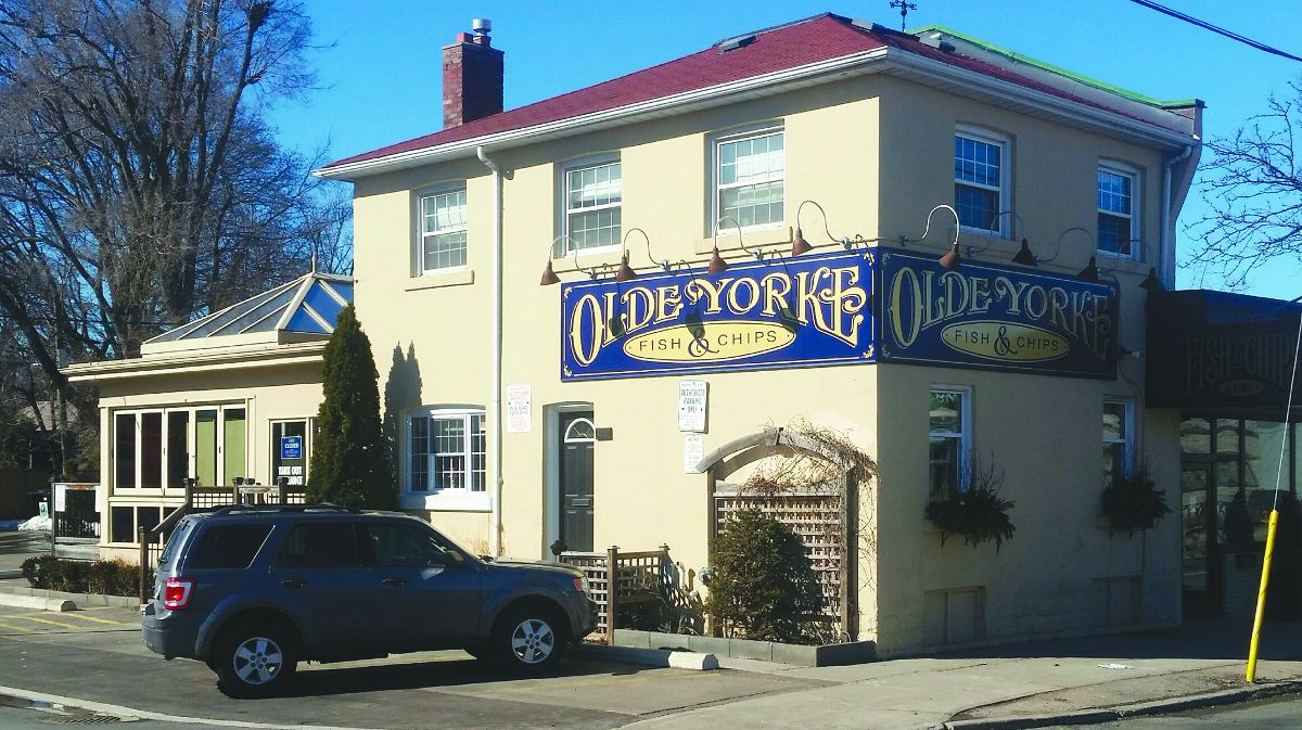 Olde Yorke Fish & Chips, located at 96 Laird Dr.