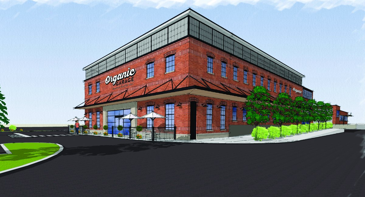 An artist's rendering of the Leaside location of Organic Garage