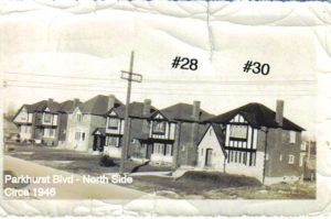 Parkhurst Blvd - North Side, Circa 1946