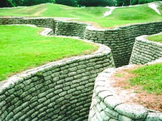 Trenches at Vimy Memorial