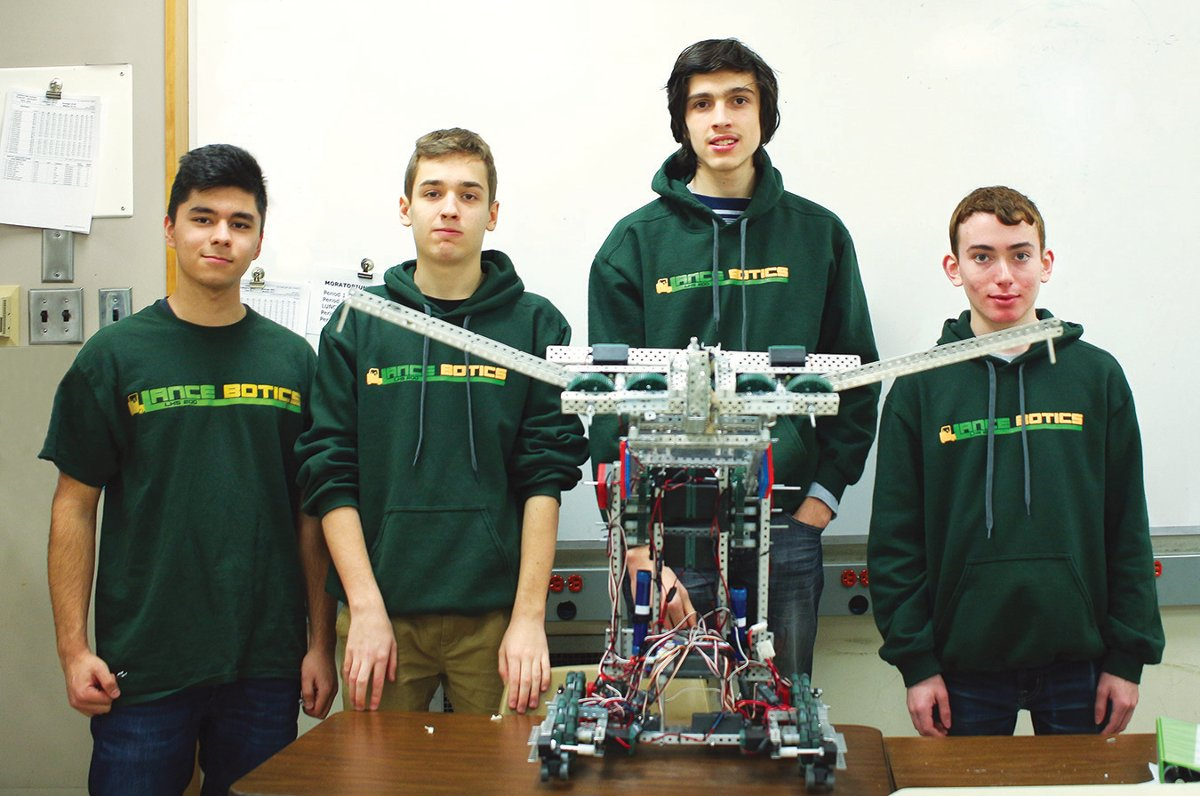 The Lancebotics Team on their way to the Worlds