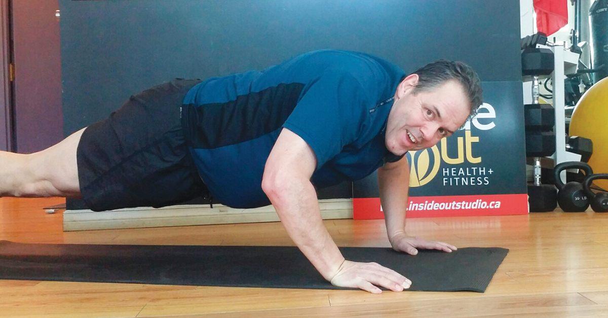 Dave Sparrow at 20 push-ups!