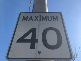 40 km per hour sign