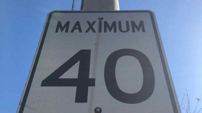 40 km per hour sign