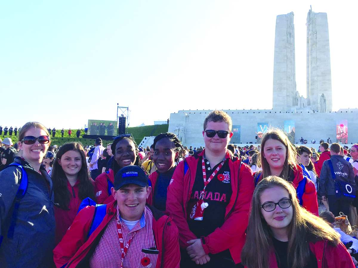 Leaside High students at Vimy