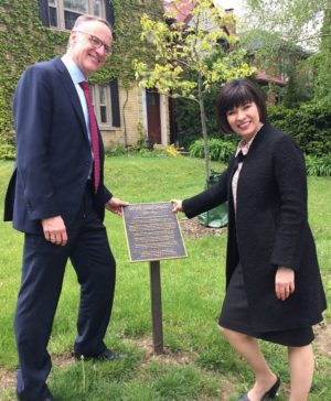 Rob Oliphant, MP and Ginette Petitpas Taylor at the Agnes Macphail house. Photo by Janis Fertuck.