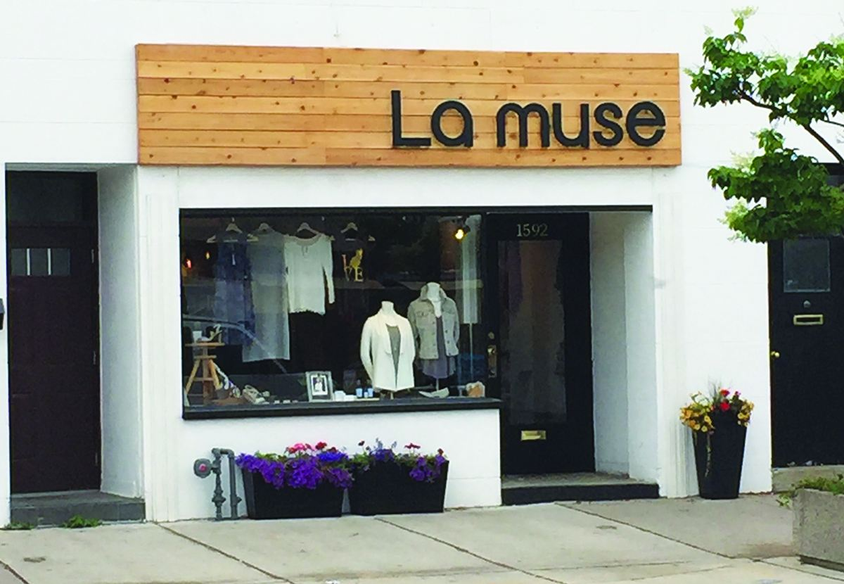 La muse storefront. Photo By Robin Dickie.
