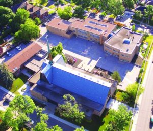 An aerial view of St. Anselm's.