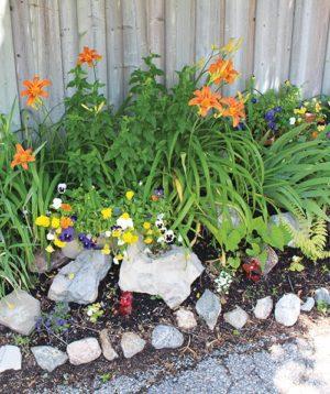 Flower garden on Krawchuk Lane