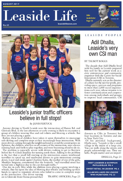 Leaside Life August 2017 Cover