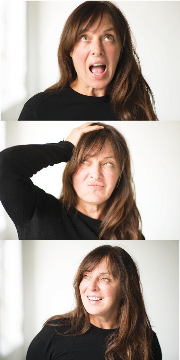 Phyllis Ellis making faces