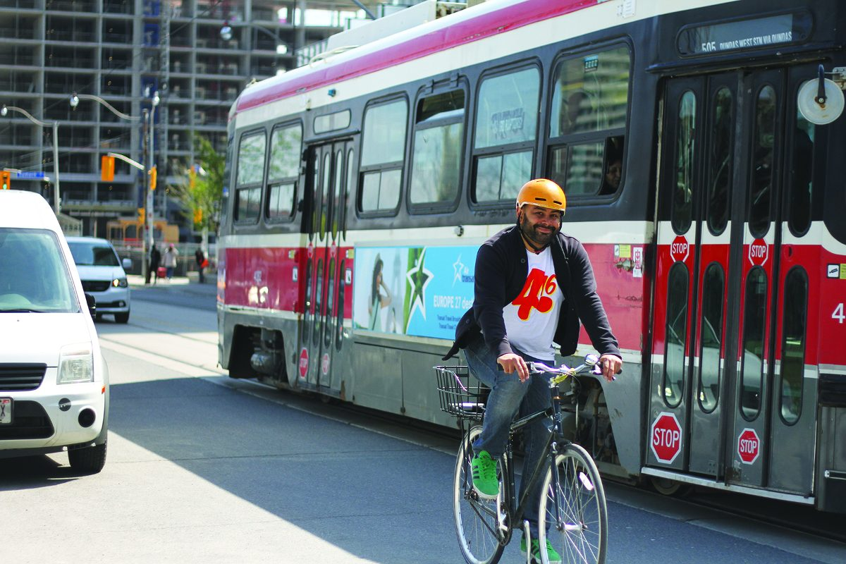 An avid cyclist, Adil was recently profiled for Bike Month.