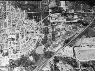 Aerial view of Leaside